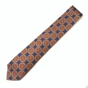 Brooks Brothers Navy and Maroon Silk Tie